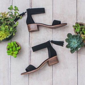Shoes - LAST 2 Black Ankle Strap Sandals